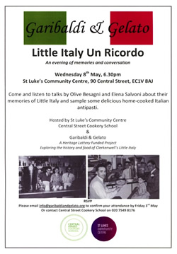 Click here for details of Little Italy Un Ricordo on 8th May 2013