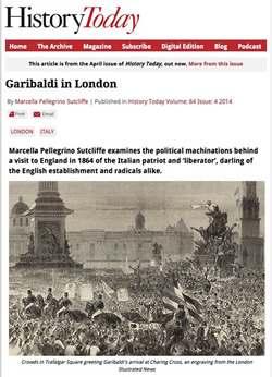 Garibaldi in London:  click for articel in History Today